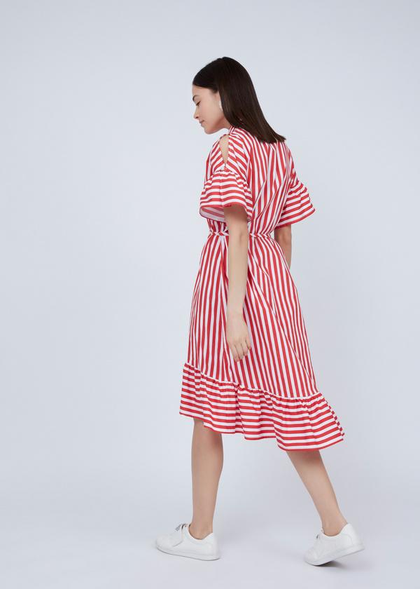 Платье-рубашка с асимметричным подолом - фото 6