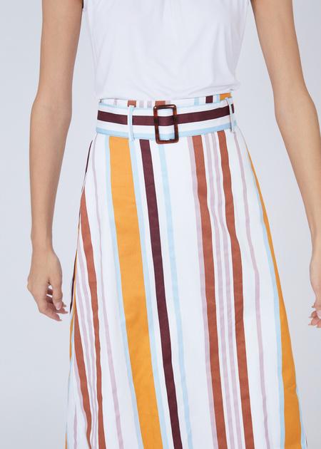 Хлопковая юбка-миди - фото 3