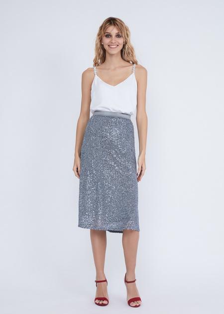 Расклешенная юбка с пайетками - фото 1
