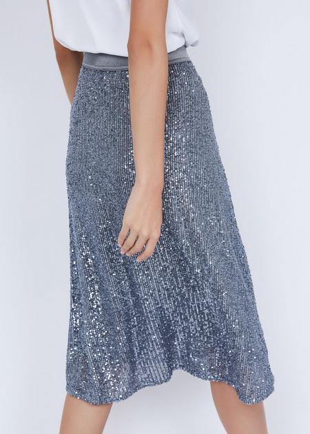 Расклешенная юбка с пайетками - фото 4