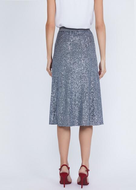 Расклешенная юбка с пайетками - фото 5