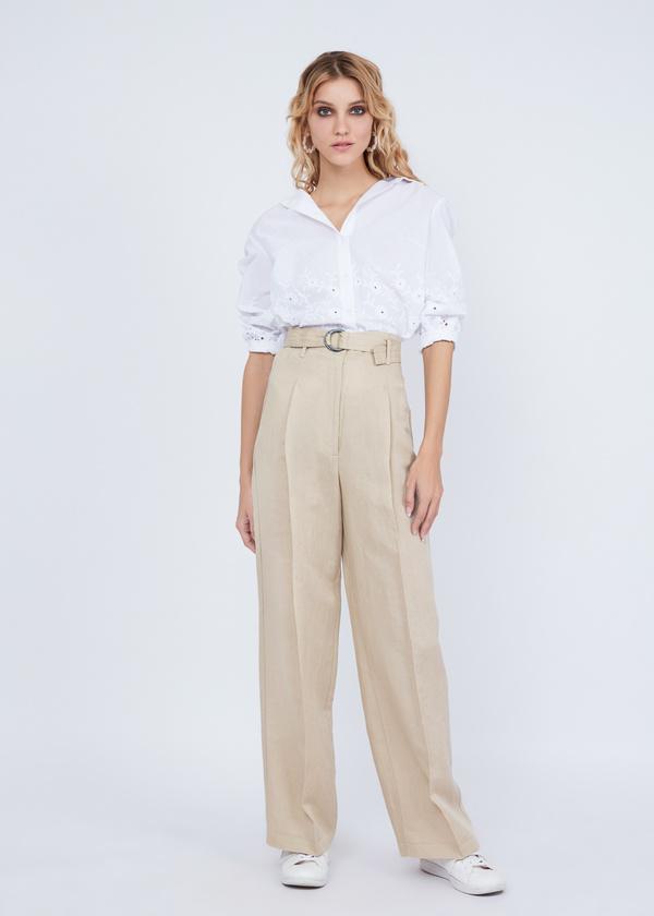 cb0e3318c8c Прямые брюки с защипами - купить в интернет-магазине «ZARINA»