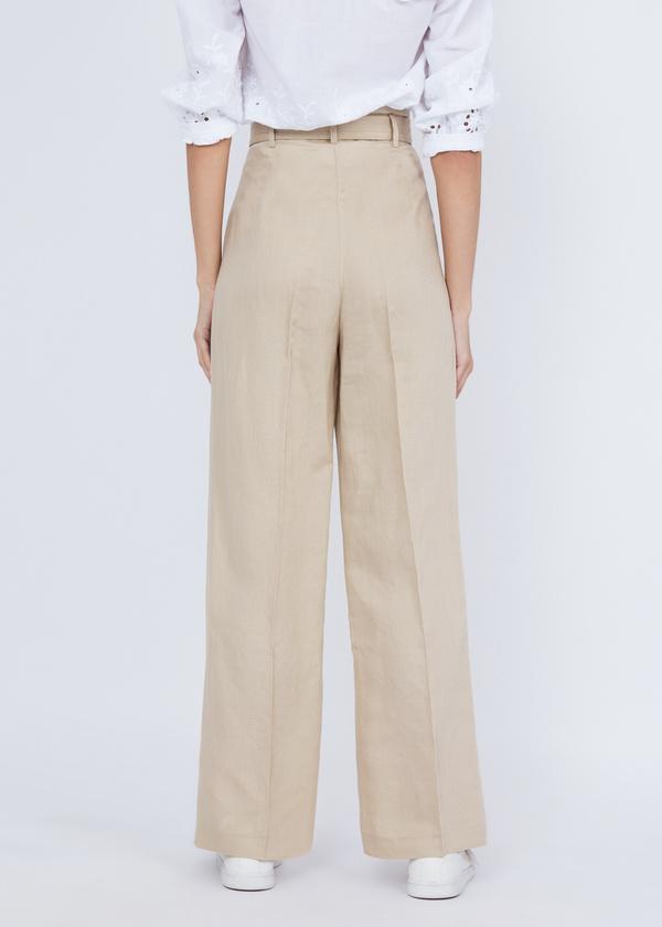 Прямые брюки с защипами - фото 3