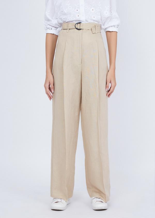 Прямые брюки с защипами - фото 4