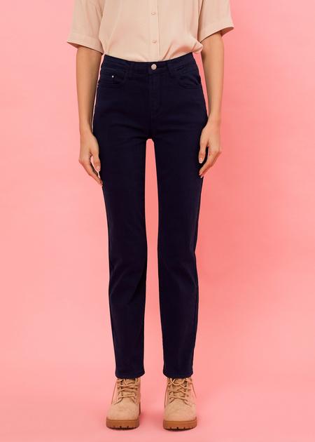 Прямые брюки из денима - фото 1