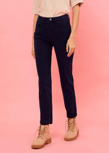 Прямые брюки из денима - фото 3