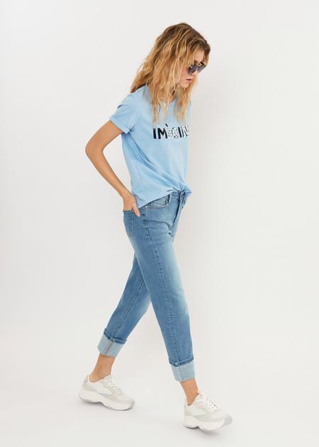 Укороченные джинсы - фото 3