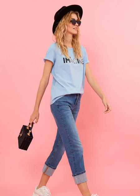 Укороченные джинсы - фото 2