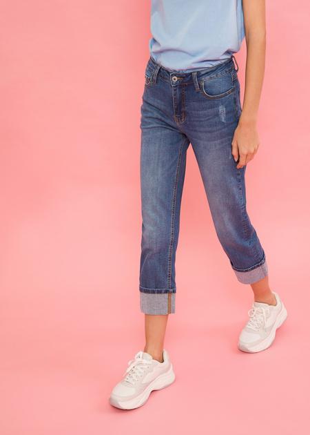 Укороченные джинсы - фото 4