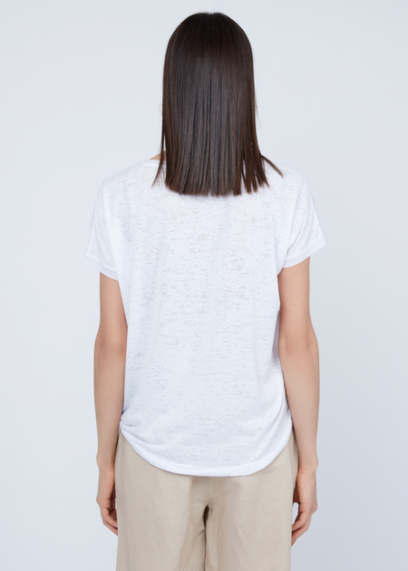 Трикотажная футболка с вышивкой из пайеток - фото 5
