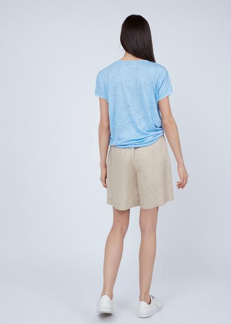 Трикотажная футболка с вышивкой из пайеток - фото 4