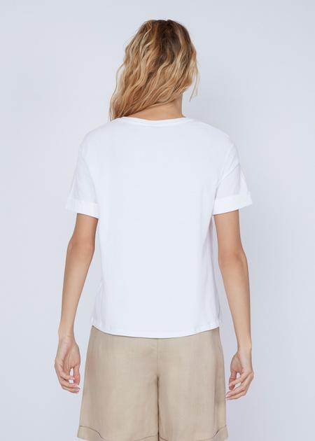 Хлопковая футболка с объемной аппликацией - фото 5
