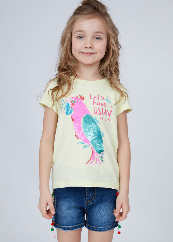 Хлопковая футболка с принтом - фото 2
