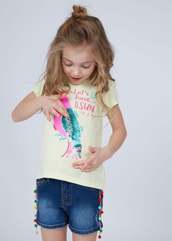 Хлопковая футболка с принтом - фото 3