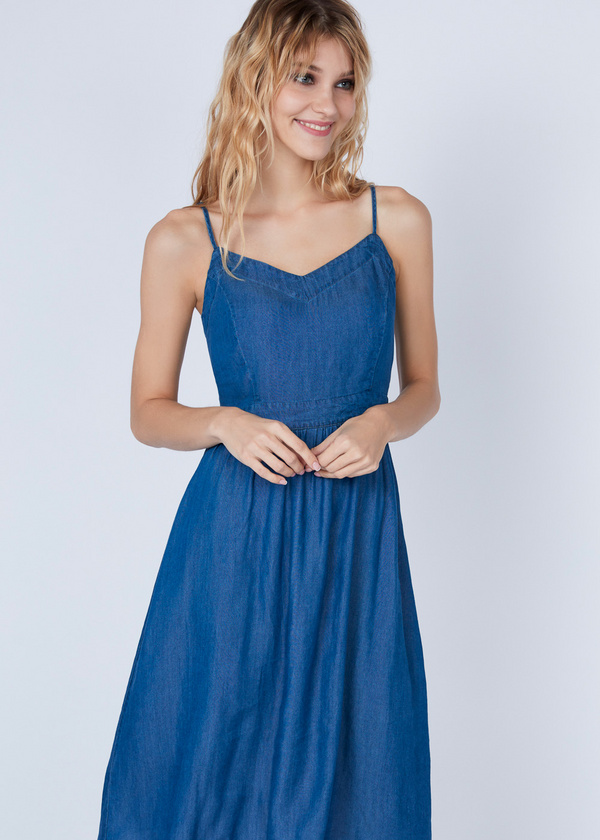 Платье-миди с вырезом на спине - фото 2