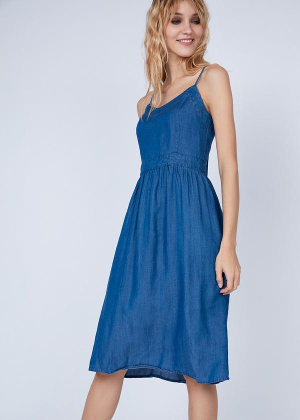 Платье-миди с вырезом на спине - фото 5