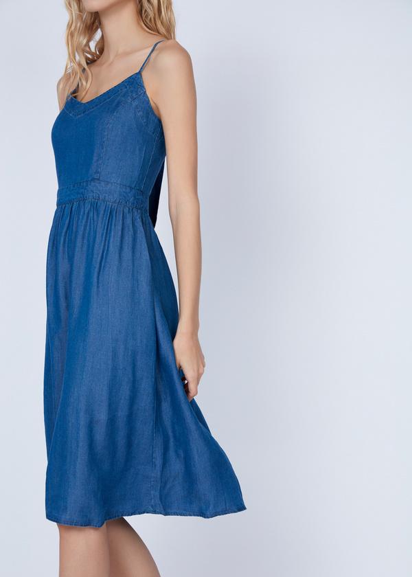 Платье-миди с вырезом на спине - фото 6