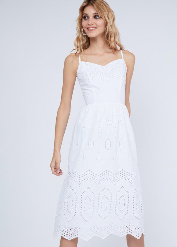 Платье из хлопка с кружевом - фото 2