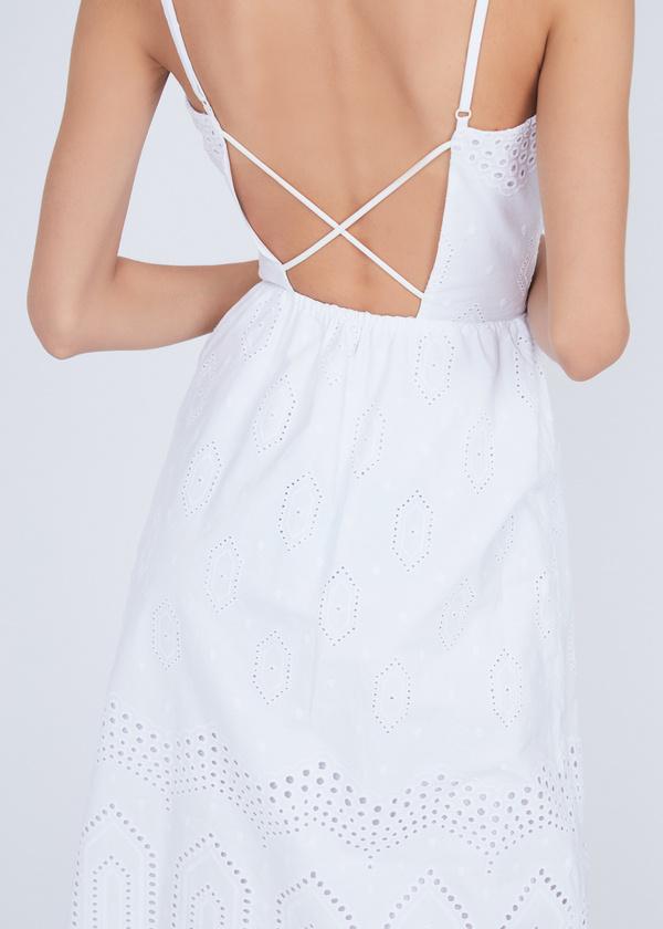 Платье из хлопка с кружевом - фото 3