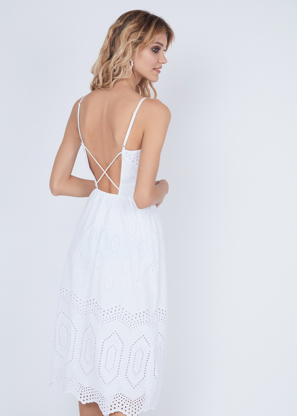 Платье из хлопка с кружевом - фото 4