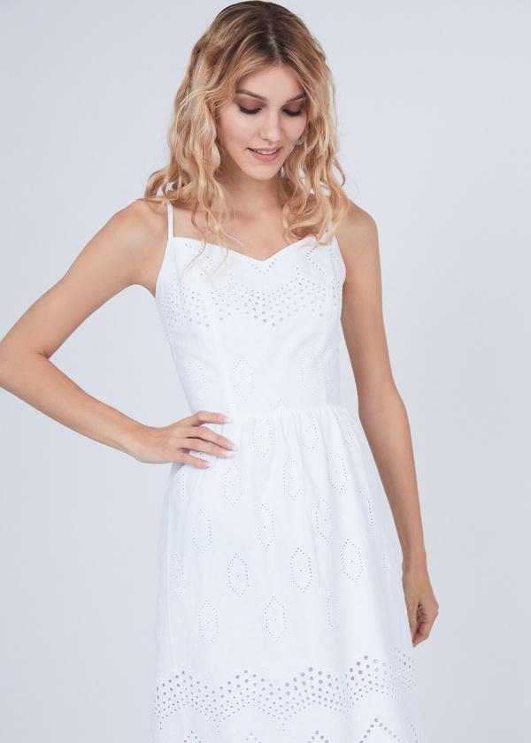 Платье из хлопка с кружевом - фото 5