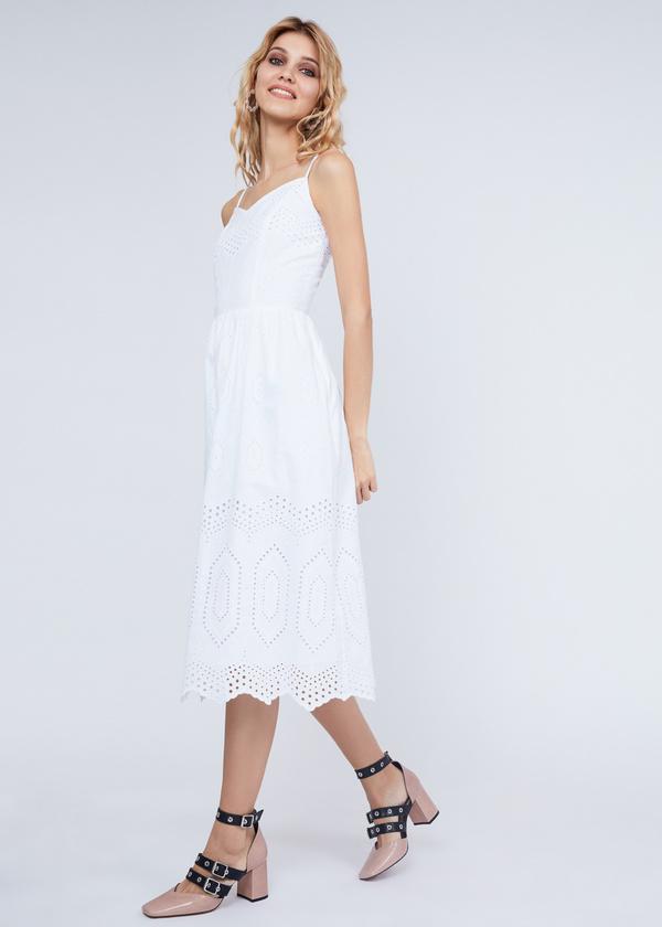 Платье из хлопка с кружевом - фото 6
