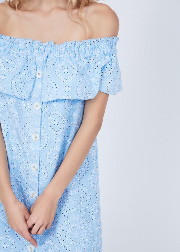 Платье из кружевного хлопка - фото 2