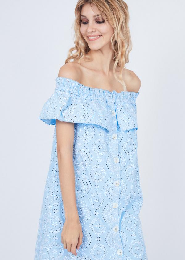 Платье из кружевного хлопка - фото 3