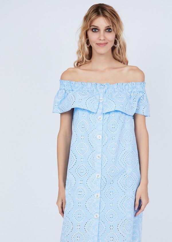 Платье из кружевного хлопка - фото 4