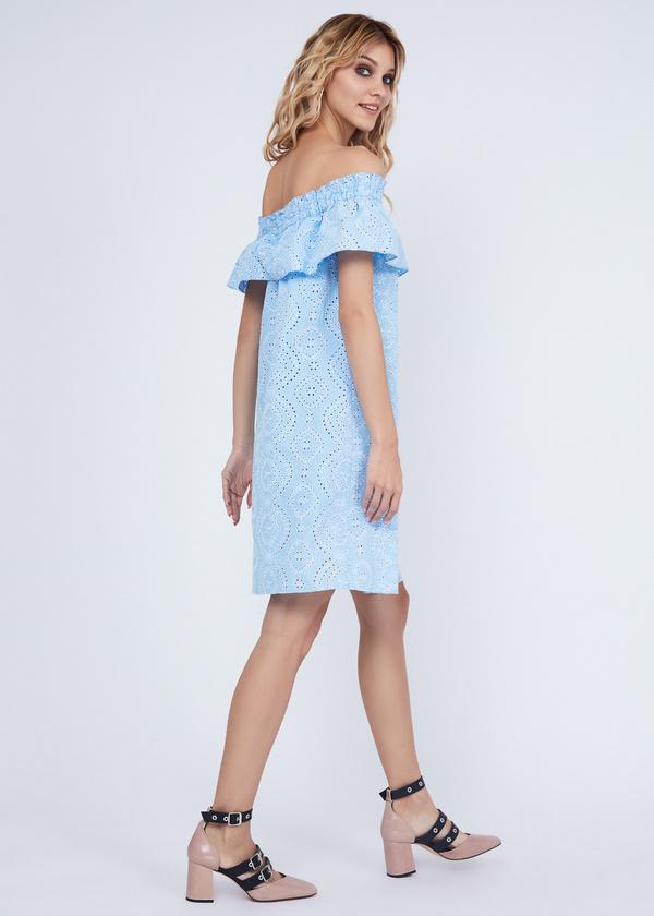 Платье из кружевного хлопка - фото 5