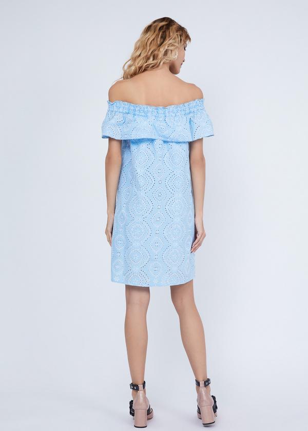 Платье из кружевного хлопка - фото 6