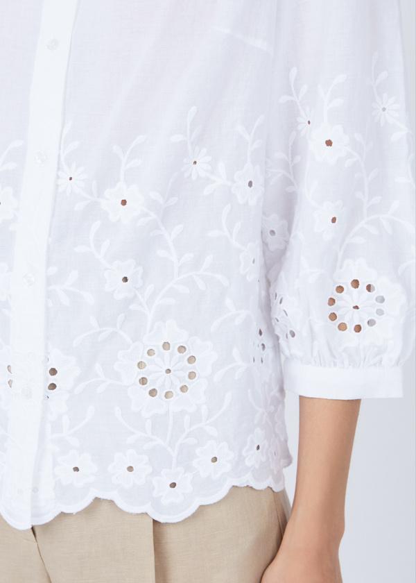 Рубашка из хлопка с кружевом - фото 3