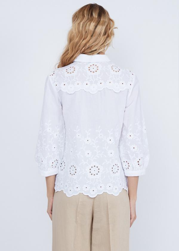 Рубашка из хлопка с кружевом - фото 6