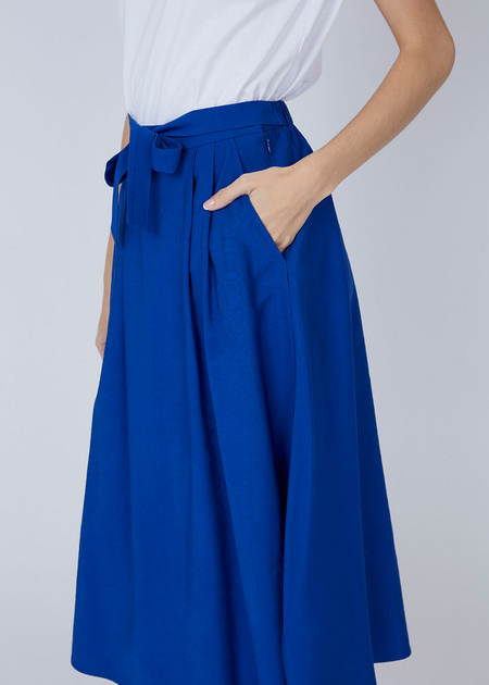 Миди-юбка с ремнем - фото 4