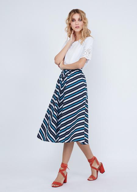 Миди-юбка в полоску - фото 1