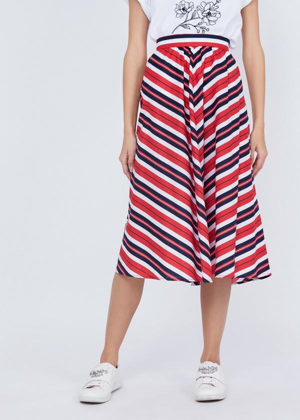 Миди-юбка в полоску - фото 2