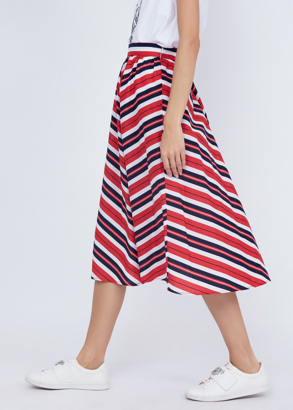 Миди-юбка в полоску - фото 3
