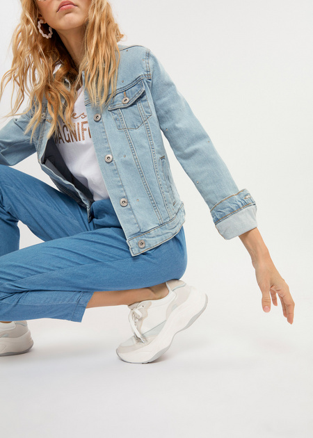 Джинсовые брюки из 100% хлопка - фото 3