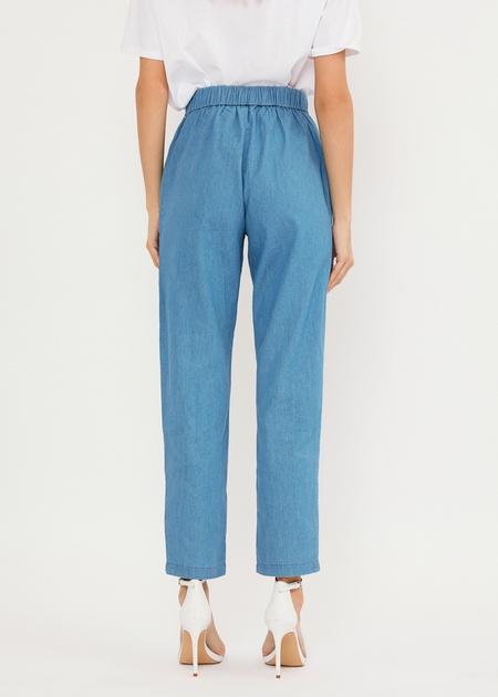 Джинсовые брюки из 100% хлопка - фото 4