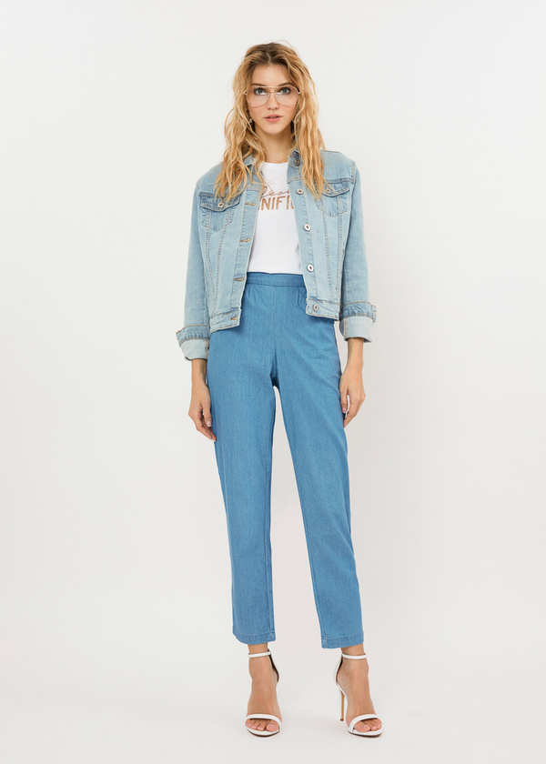 Джинсовые брюки из 100% хлопка - фото 1
