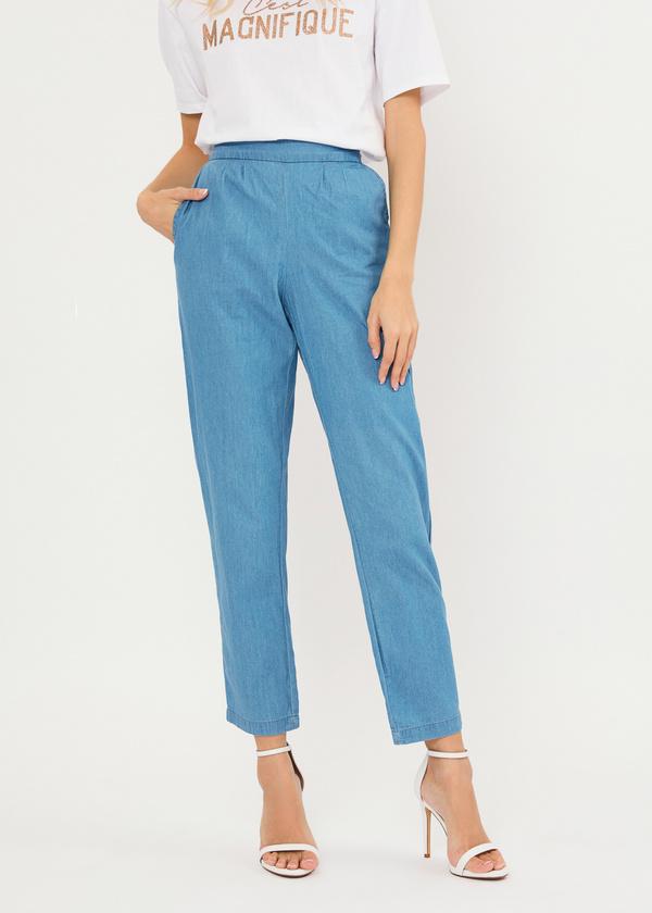 Джинсовые брюки из 100% хлопка - фото 2