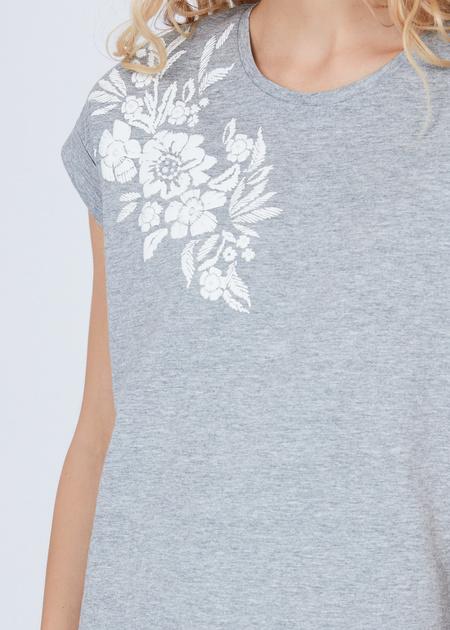 Хлопковая футболка с аппликацией - фото 4
