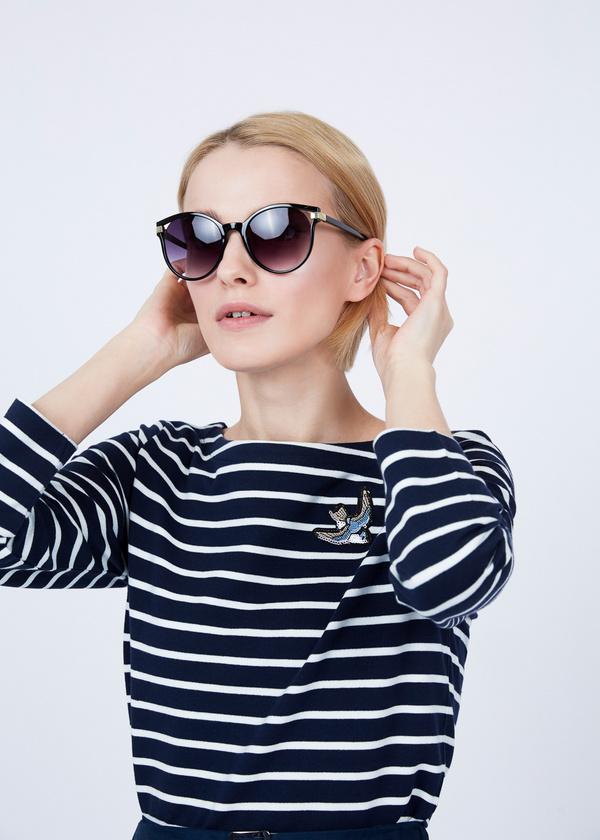 Солнцезащитные очки-оверсайз под черепаху - фото 1
