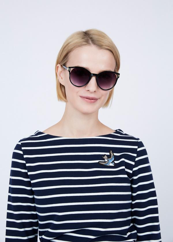 Солнцезащитные очки-оверсайз под черепаху - фото 2