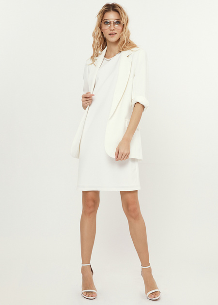 Платье-мини со стразами - фото 1