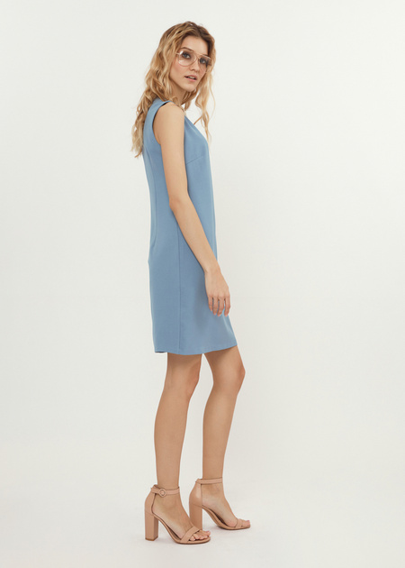 Платье-мини со стразами - фото 5
