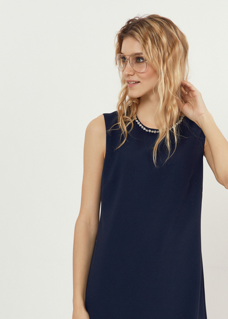 Платье-мини со стразами - фото 2