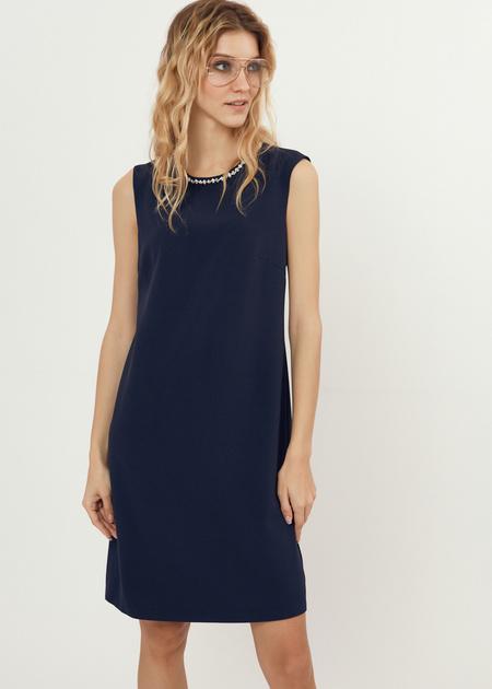 Платье-мини со стразами - фото 4