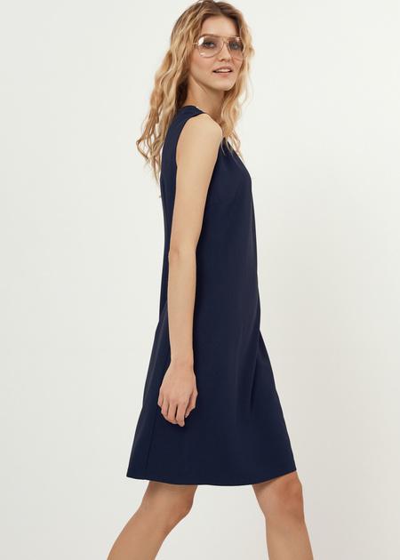 Платье-мини со стразами - фото 6