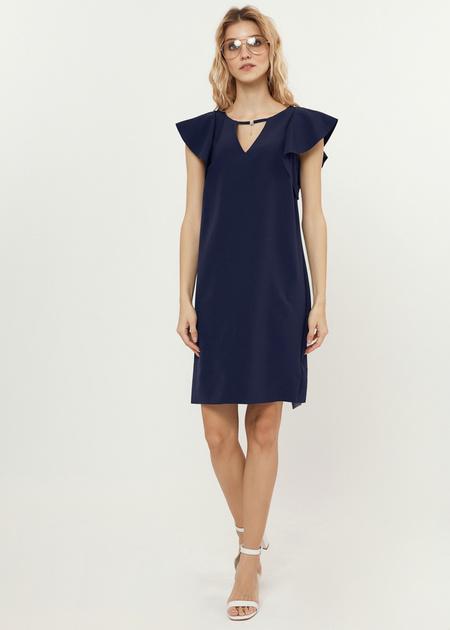 Платье-мини с рукавами-крылышками - фото 1
